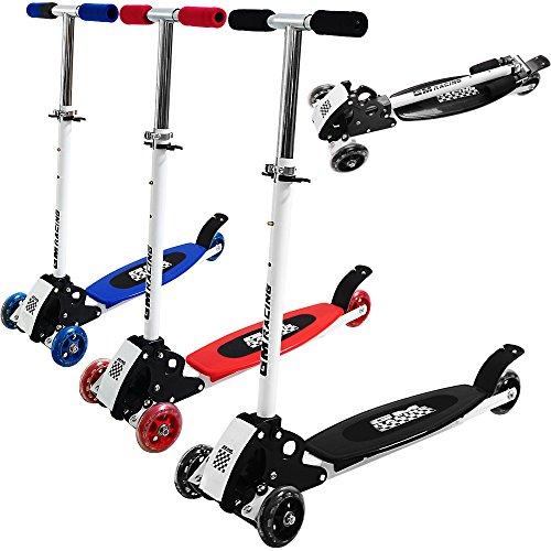 Kickboard-Scooter Schwarz - Roller Kinderroller Tretroller Kinderscooter