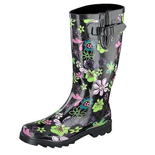 gosch-shoes-sylt-damen-langschaft-gummistiefel-7109-501-9-schwarz-flower-power-38