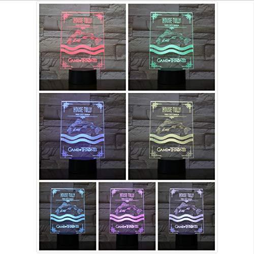 Preisvergleich Produktbild YS753 Led-nachtlicht Touch Sensor 7 Farbwechsel Kind Kinder Family Duty Ehre Game of Thrones Schreibtischlampe Nachttisch