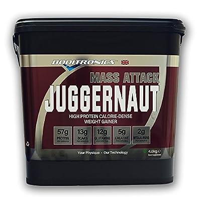 Boditronics Mass Attack Juggernaut 4kg Rich Chocolate Powder Muscle Mass Gain Powder Shake by Boditronics