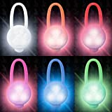 6 Stück Hunde Leuchtanhänger Leuchthalsband Led Hundehalsband LH10 Blinkie von Leuchthund® Led Anhänger (6 Stück gemischt - 1 je Farbe)