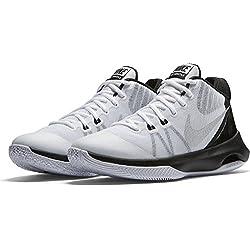 Nike 852431-100, Zapatillas de Baloncesto para Hombre, Blanco (White / Metallic Silver-Black), 41 EU