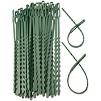 WARKHOME - Bridas de plástico flexibles para plantas y jardines, 100pcs x 16.9'', ajustables