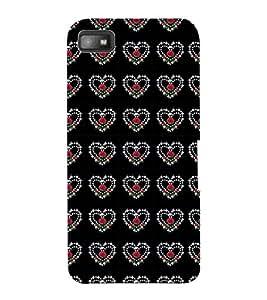 ColourCraft Heart Pattern Design Back Case Cover for BLACKBERRY Z10