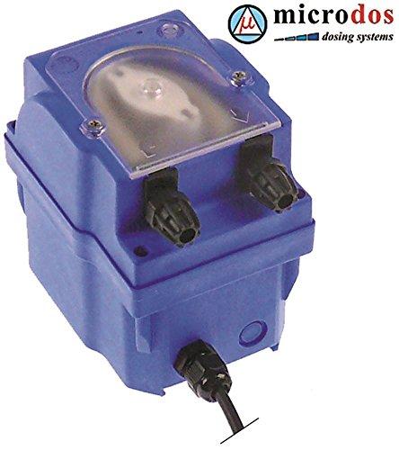 MICRODOS MP2-R Dosiergerät für Spülmaschine für Reiniger 4l/h Schlauchanschluss ø 4x6mm 230V Saughöhe 1,5m Santoprene 230VAC