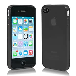 Apple  iPhone 4S / 4 Hülle Ultra-leicht dünn flexibel TPU Cover Case schwarz