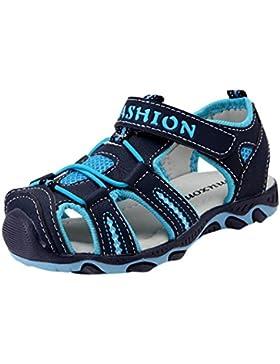 Siswong Sandalias de Punta Cerrada Playa Verano Al Aire Libre Casuales Zapatos para Niños (EU 30, Azul Oscuro)