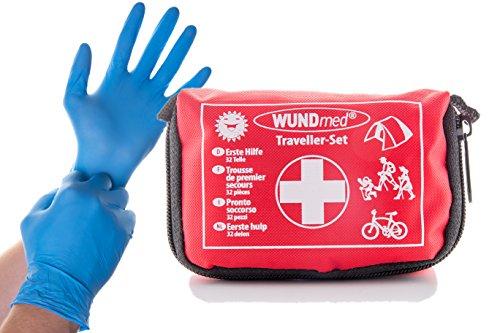 Buy and Happy GbR Das kleine Erste Hilfe Set für (Reisen, Outdoor, Arbeit) mit den wichtigsten Erste Hilfe Anweisungen   Handlich und leicht zu verstauen