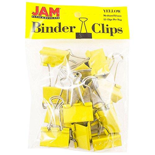 �roklammern - Medium - 32 mm - Gelbe Büroklammern - 15/Packung ()
