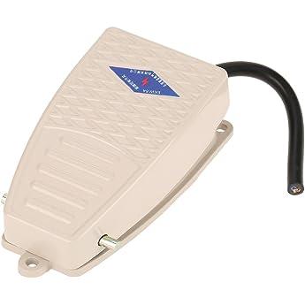 AC 220 V 5A SPDT NO NC Metall Rutschfeste Momentanen Power Pedal Fußschalter
