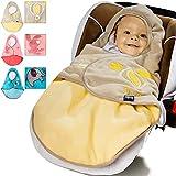 Lupilu Babyfußsack Baby Fußsack Winterfußsack Kuschelsack Babydecke Kinderwagen ✔waschbar ✔gut gefüttert ✔gelb