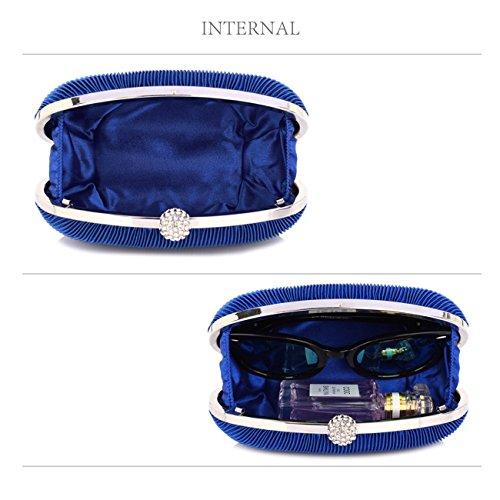 LeahWard Kleine Clutch-Tasche für Frauen Hochzeit Geldbörse Qualität Abendtasche Party Braut 092 (DUNKELBLAU KUPPLUNG) KÖNIGSBLAU