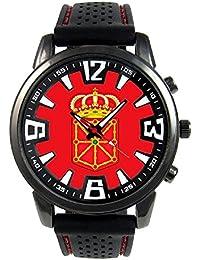 Navarra España Reloj para hombre con correa de silicona