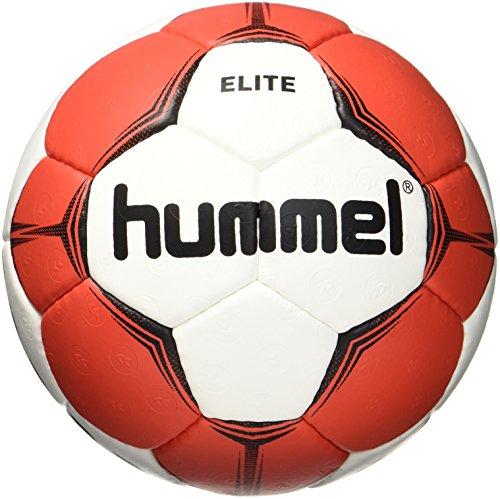 Hummel Balonmano para parte & entrenamiento–Tamaño 2o 3–SMU Elite HB–Resina Ball Blanco disponible con azul, verde o rojo–Balón de entrenamiento con Air de Trap de válvula, Otoño-invierno, color Blanco, rojo, tamaño 1