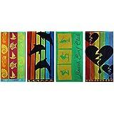 Betz toalla de playa terciopelo toalla de ducha toalla de baño 100 % algodon 70x140 cm diseños diferentes color Beach Surf Club