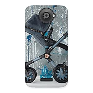 Enticing Denim Baby Print Back Case Cover for HTC One X