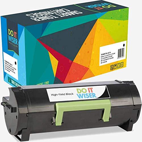 Do it Wiser cartuchos de Tóner inteligentes que reducen los costos de impresión y garantizan impresiones de alta calidad. Compatible con el número de parte 60F2H00. Para Lexmark MX310dn MX510de MX511de MX511dhe MX511dte MX611de MX611dhe MX410de MX610...