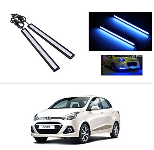 AutoStark Daytime Running Lights Cob LED DRL (Blue) Hyundai Xcent (2014 Upwards)  available at amazon for Rs.249