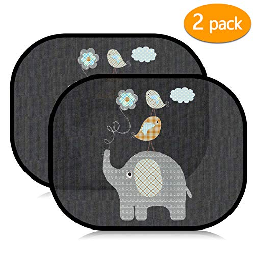 Acelife Auto Sonnenshutz Baby 2 Stück, Auto Sonnenblende mit UV Schutz, Universal Selbsthaftende Sonnenblenden für Kinder, Autofenster Sonnenschutz + Tasche