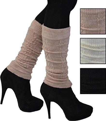 1 Paar Modern und Pfiffig! Stulpen-Legwarmers, Wolle. Schöne weiche wärmende Qualität. wollweiss beige oder schwarz