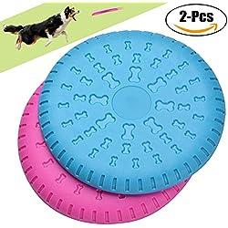 Frisbee Perro,Legendog 2 Pcs Durable Perro Flying Disco Material ABS Juguetes para perros Juguetes de Entrenamiento para Perros(Compáralo para Masticar, Entrenamiento Perfecto)