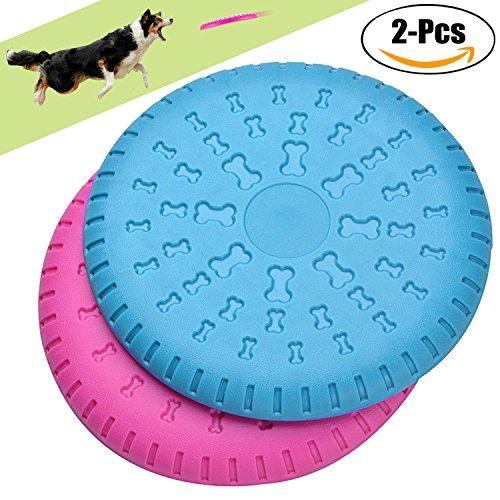 Frisbee Hund, Legendog 2 Stücke Weiches Gummi Hunde Frisbee Scheiben | Hundespielzeug für Große Hunde | Dog Disc | Training Intelligenz Hundespielzeug Set | Interactive Outdoor Hunde Spielzeug | für Mittelgroße Große Hunde 23 CM | Blau und Rot