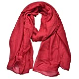 Outrip Light Soft Scarves Fashion Scarf Shawl Wrap For Women Men (Winered)