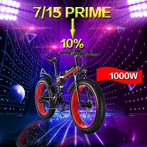 Shengmilo 7/15 MX01 / MX02 / M80, Elektrofahrrad, 26-Zoll-E-Bike, Aluminiumlegierungsrahmen, Man Woman E-Bike (MX01, rot) -
