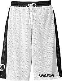 Spalding Hose & Shorts Essential Reversible - Pantalones cortos de baloncesto para mujer, color negro / blanco, talla XL