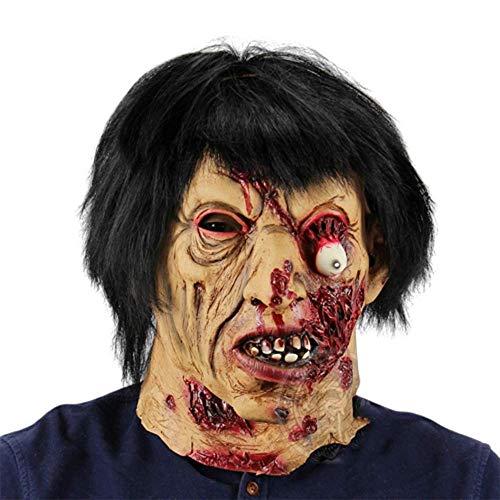 YEARYOWN Halloween Maske Horror Black Man Zombies Halloween Kostüm Party Flucht Spukhaus Großhandel Requisiten Unheimlich Latex Zombie Ghost Mask (Ghost Gent Für Erwachsenen Kostüm)