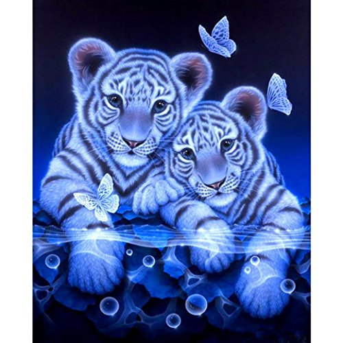 Price comparison product image KEATTL 5D DIY Diamond Painting,  Rhinestone Pictures Of Crystals Embroidery Kits Arts,  Crafts & Sewing Cross Stitch Tiger