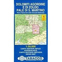 DOLOMITI AGORDINE E DI ZOLDO 4  1/50.000
