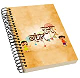 Jikraa Spiral Bound Rakhi Notebook, Single Rule Notebook, Size : A5, Number of Pages : 100, Texture Acrylic Notebook Natural White Paper:High Quality Paper, Multicolor