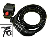 #10: BabyGo Strong Resettable Cable Lock with Mount For Cycle Helmet Bike And Luggage