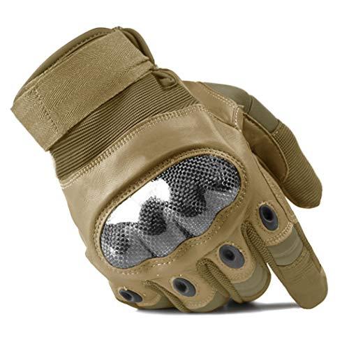 Guanti da moto da uomo. Guanti rigidi in pelle. Protezioni per dita, traspiranti, antiscivolo, antiscivolo