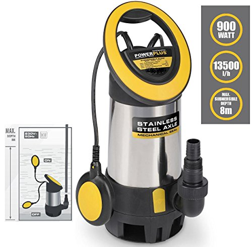 Schmutzwasserpumpe Edelstahl 900 Watt POWXG9418
