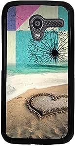 PrintVisa Case Cover for Motorola Moto X (D7845 Love Beach)