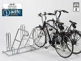 Fahrradständer - Anlehnparker 4602 XBF einseitig - 2 Einstellplätze - Radabstand 500 mm