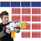 Yuccer Mousse Fléchettes, Recharge Balle Nerf Bullets pour Nerf N-grève Elite série Blasters Toy Gun (7.2cm Paquet de 100)