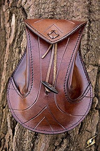 Femme Hobbit Costume - Sacoche pour ceinture en cuir tanné marron,