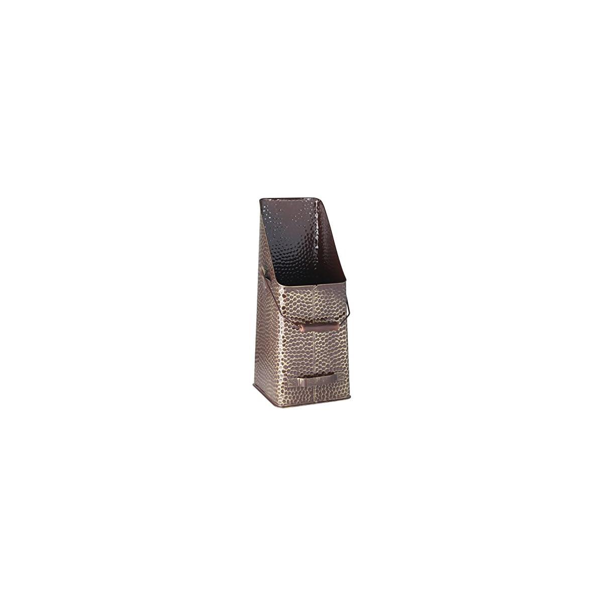 51lUMHS9IdL. SS1200  - Kamino-Flam - Cubo para leña, Cesta para carbón, Contenedor para leña, Cajón de almacenamiento, Caja para almacenar leña y carbón - 20/20/50 cm