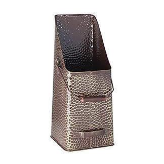Kamino-Flam – Cubo para leña, Cesta para carbón, Contenedor para leña, Cajón de almacenamiento, Caja para almacenar leña y carbón – 20/20/50 cm