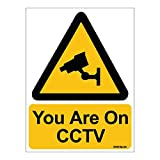 #6: Clickforsign SIGN06-3MVINYLBIG1 Caution CCTV Surveillance Sign Sticker for Walls and Doors, 300 x 225 mm