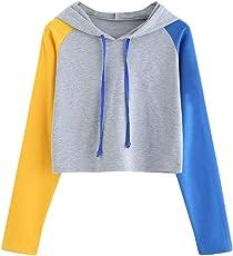 Felicove Pullover Damen Sweatshirts Kapuzenpullover Hoodie Kapuzenjacke Bluse Tops Weiß Grau Grün Mode 2018 Top Top kaputzenpullis Damen Sale