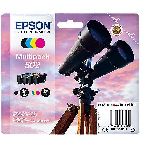 Epson C13T02V64010 Multi-Pack (Schwarz, Gelb, Magenta, Cyan) Original Tintenpatronen 4er Pack