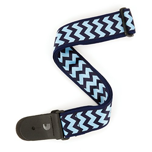planet-waves-chevron-correa-de-guitarra-bajo-color-azul-y-azul-oscuro