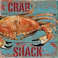 Feelingathome.it, STAMPA SU TELA 100% cotone INTELAIATA Crab Shack cm 61x61 (dimensioni personalizzabili a richiesta)