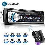 Wysgvazgv Autoradio Bluetooth 65W X 4 Stereo Autoradio Auto Audio Ricevitore Vivavoce Bluetooth Supporta MP3 FM RDS AUX TF USB con Telecomando 7 Luci Colorate