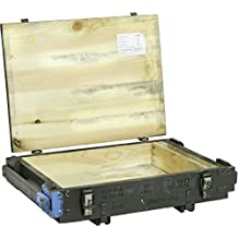 Caja de munición pmoz Caja para guardar CA 63x 43x 16,50cm Militar Caja Munitions Caja de madera caja de madera cajón-estantería manzana caja Shabby Vintage