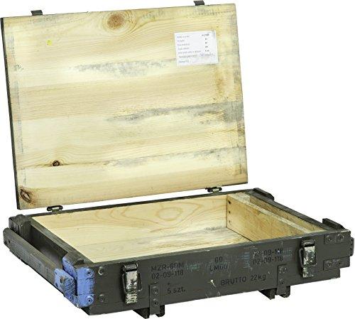 Munitionskiste PMOZ Aufbewahrungskiste ca 63x43x16,50cm Militärkiste Munitionsbox Holzkiste Holzbox Weinkiste Apfelkiste Shabby Vintage